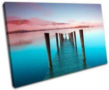 Ashness Pier Lake District Sunset Seascape - 13-0357(00B)-SG32-LO